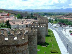 Ávila, Desde el adarve oeste