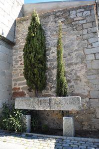 Alpedrete, Dintel de la antigua Casa Parroquial
