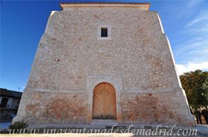 Belmonte de Tajo, Fachada delantera del templo