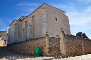 Belmonte de Tajo, Fachada Norte de la Iglesia Parroquial de Nuestra Señora de la Estrella