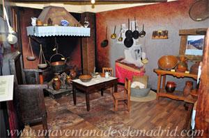La Hiruela, Recreación de la cocina de una antigua vivienda rural