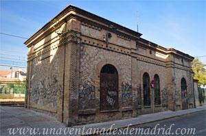 Valdelaguna, Edificio de viajeros de la antigua estación de ferrocarril, visto desde la Calle del Muelle