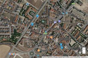 Mapa de los edificios históricos de Humanes de Madrid