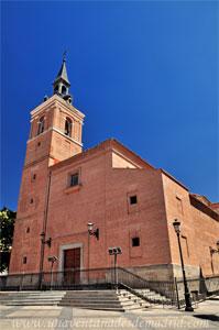 Leganés, Fachada principal de la Iglesia de San Salvador