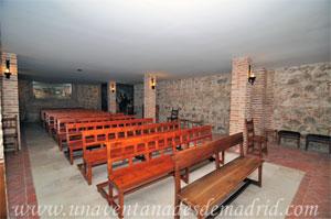 Monasterio y Santuario de Santa María de la Cruz y la Santa Juana, Cripta subterránea formada por los restos del antiguo templo del siglo XV donde se encuentra el lugar exacto donde la Virgen clavó la cruz