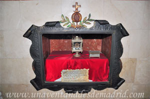 Monasterio y Santuario de Santa María de la Cruz y la Santa Juana, Reliquia del Beato Jacinto Hoyuelos González