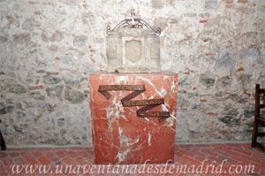 Monasterio y Santuario de Santa María de la Cruz y la Santa Juana, Restos de la tumba en alabastro de doña Teresa de Cárdenas