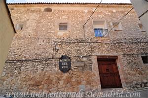Valdelaguna, Entrada al Museo del Vino en la Casa Grande