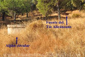 Villa del Prado, Aljibe circular y Fuente del Tío Alicáncano