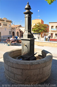 Villa del Prado, Fuente de hierro fundido