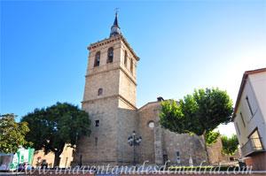 Villa del Prado, Torre y fachada Oeste de la Iglesia Parroquial de Santiago Apóstol