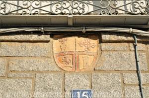 Villamantilla, Escudo correspondiente al linaje del Marqués de Villamantilla de Perales situado en la Casa de los Calderos del Rey