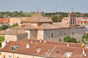 Villarejo de Salvanés, Foto, desde el Castillo, del Convento de Nuestra Señora de La Victoria de Lepanto