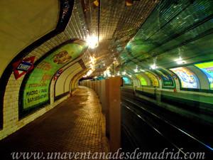 Estación Fantasma de Chamberí, Andén hacia Cueatro Caminos, Tetuán