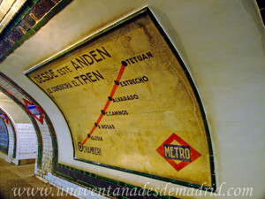 Estación Fantasma de Chamberí, Itinerario de Chamberí a Tetuán