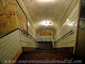Estación Fantasma de Chamberí, Primera escalera a la derecha