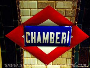 Estación Fantasma de Chamberí, Reproducción del Rombo de esta antigua estación