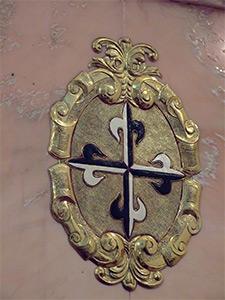 Hospital de Incurables de Nuestra Señora del Carmen, Escudo de la Hermandad de Cruzados de la Fe
