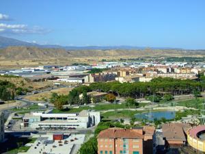 Huesca, Desde la torre de la Catedral