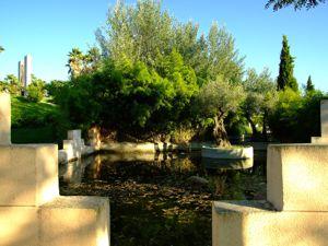 Jardín de las Tres Culturas, Estanque del Jardín Judío