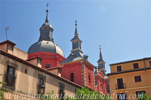 Madrid, Carlos II, Cúpula y remate de las torres de la Iglesia de Santiago el Mayor