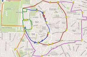 Madrid, Felipe II, Mapa de las murallas, cercas y puertas de Madrid