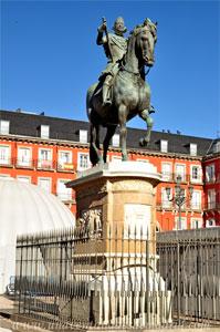 Madrid, Felipe III, Estatua de Felipe III