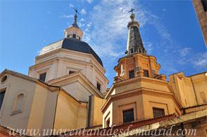 Madrid, Felipe IV, Cúpulas del Crucero (al fondo) y de la Capilla del Buen Consejo (en primer plano) de la Colegiata de San Isidro