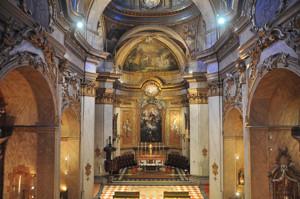 Basílica Pontificia de San Miguel, interior visto desde el coro