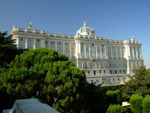 Madrid, Palacio Real, fachada Norte