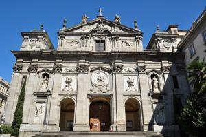 Madrid, Convento de Las Salesas, fachada principal desde la Calle Bárbara de Braganza