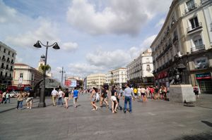 Madrid, Puerta del Sol, vista desde el Norte