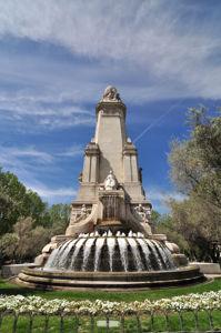 Monumento a Miguel de Cervantes, cara posterior