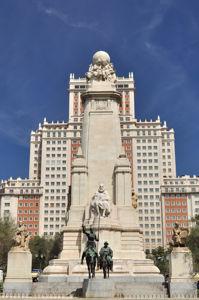 Monumento a Miguel de Cervantes, Visión completa