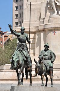Monumento a Miguel de Cervantes, Don Quijote y Sancho Panza