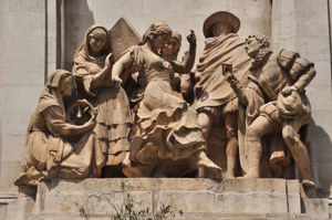 Monumento a Miguel de Cervantes, La Gitanilla