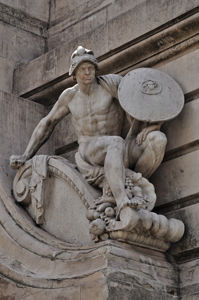Monumento a Miguel de Cervantes, Valor Militar