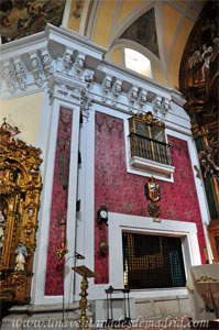 """Madrid, Iglesia del Monasterio de las Mercedarias Descalzas """"las Góngoras"""", Coro bajo y tribuna del lado de la Epístola"""