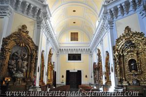 """Madrid, Vista desde el crucero del interior de la Iglesia del Monasterio de las Mercedarias Descalzas """"las Góngoras"""""""