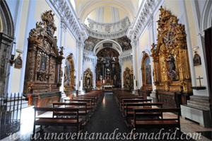 """Madrid, Vista desde los pies del interior de la Iglesia del Monasterio de las Mercedarias Descalzas """"las Góngoras"""""""