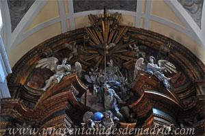 """Madrid, Iglesia del Monasterio de las Mercedarias Descalzas """"las Góngoras"""", Ático del Retablo Mayor"""