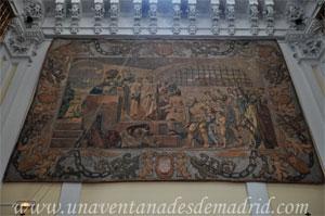 """Madrid, Iglesia del Monasterio de las Mercedarias Descalzas """"las Góngoras"""", Tapiz con """"La última redención de cautivos hecha por San Pedro Nolasco"""""""