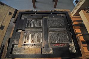 Imprenta Municipal, Molde de impresión