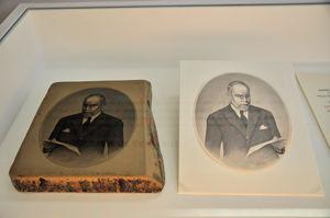 Imprenta Municipal, Piedra litográfica y su prueba de impresión