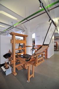 Imprenta Municipal, Reproducción de una prensa de imprimir realizada según los modelos utilizados entre los siglos XVI y XVIII