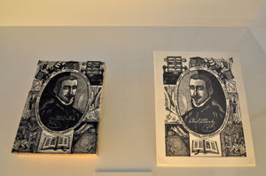 Imprenta Municipal, Taco xilográfico grabado y su prueba de impresión