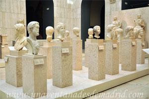 Museo Arqueológico Nacional, Cabezas de esculturas romanas situadas en la Sala 20, donde recrea el foro romano