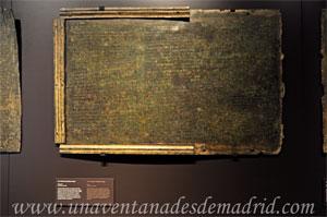 Museo Arqueológico Nacional, Tabla de bronce del siglo I d. C. que contiene parte de la Ley Municipal de la Colonia Genitiva Iulia