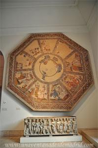 Museo Arqueológico Nacional, Mosaico datado entre los siglos III y IV hallado en Arellano, Navarra