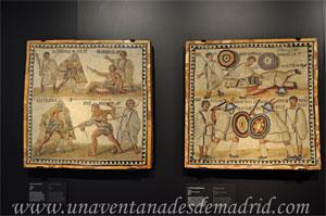 Museo Arqueológico Nacional, Mosaicos con escenas de la lucha de gladiadores
